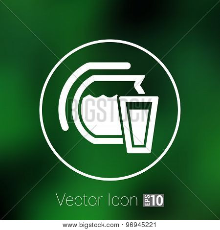 Glass jar composite logo icon compote juice