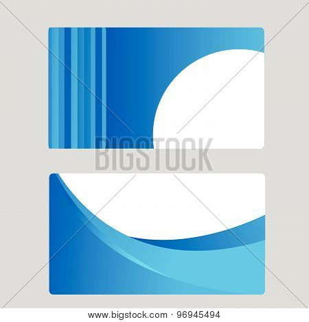 Business Card Set. Vector illustration design art