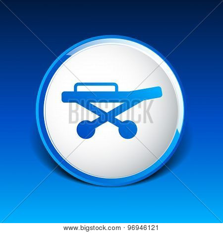 sign medical trolley concept of first aid isolated