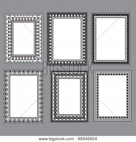 Black And White Designed Frames