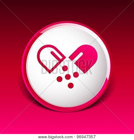 pill icon tablet pain chemistry aspirin isolated