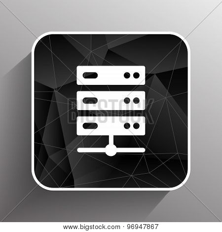 Flat Computer Server system icon vector illustration