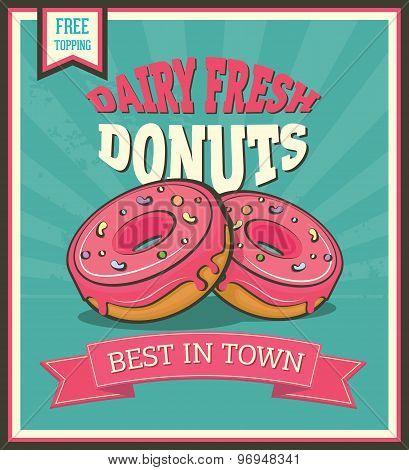 Donuts Retro Poster.