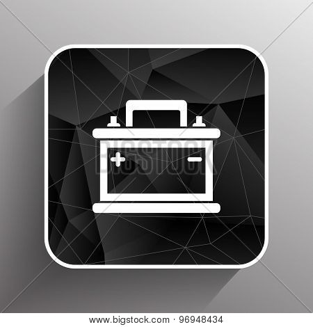 car battery icon vector electric power sign