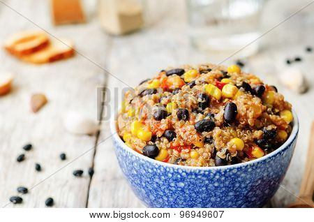Black Beans, Quinoa And Corn Chili