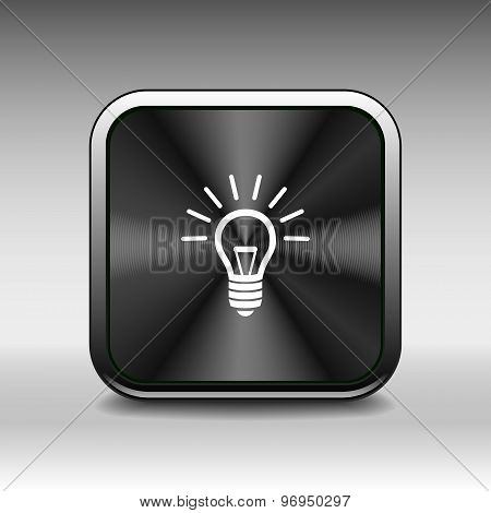 Light bulb vector icon vector lamp
