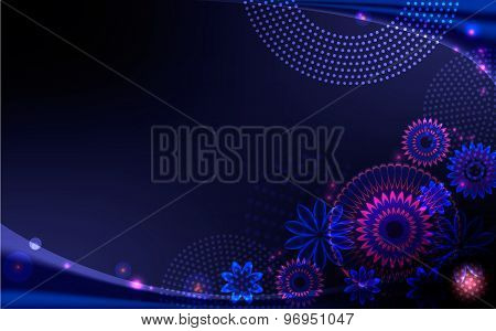 Background with dark-blue and saturated colors