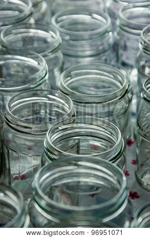 Empty Jars Of Homemade Preserves