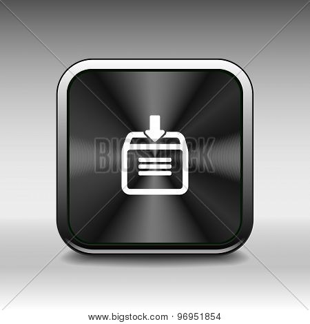 Vector download hdd icon business arrow sign symbol internet