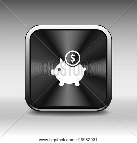 Piggy icon bank economy coin money piggy savings
