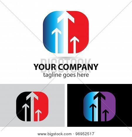 Success business arrow logo icon