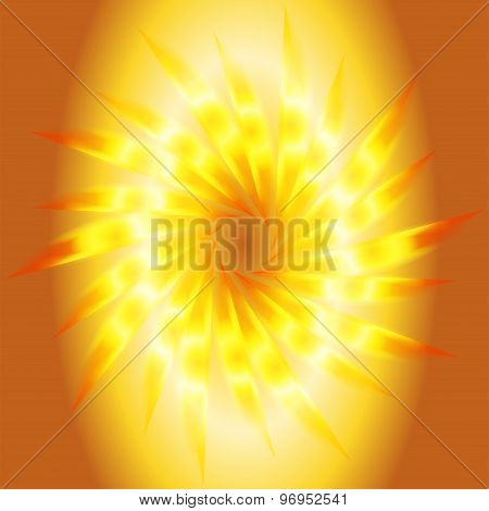 Swirl abstract golden background