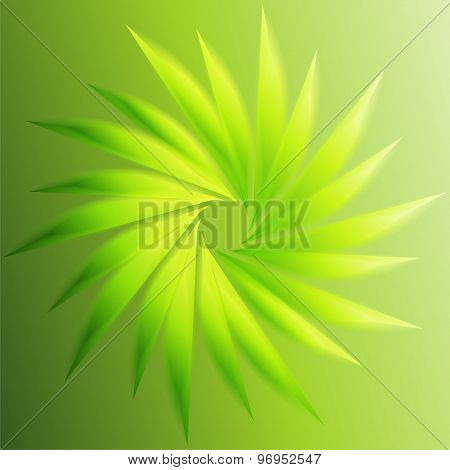 Swirl abstract green background