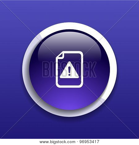 Security warning in browser icon alert bug business