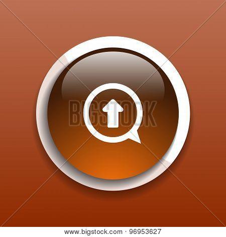 arrow up icon isolated move symbol element