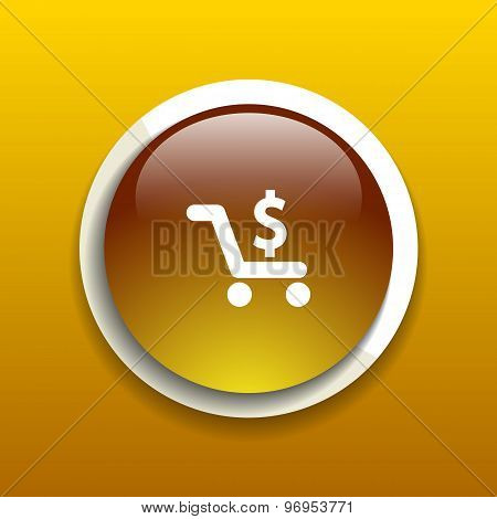 Shopping cart symbol background,clean vector