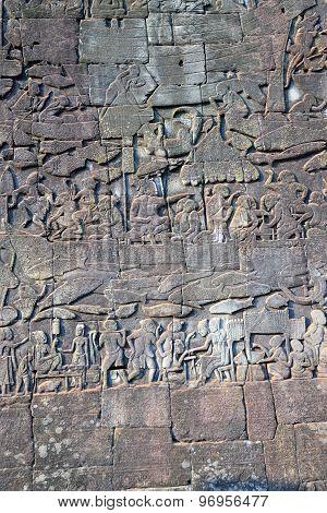 Bas relief in Bayon temple