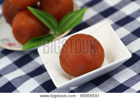 Gulab jamun, closeup