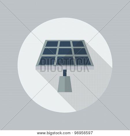 Eco Flat Icon. Solar Panel
