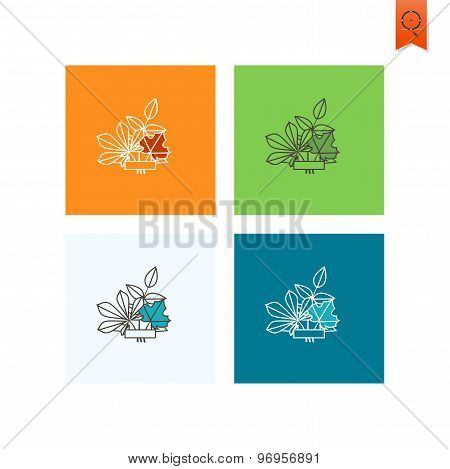 Leaves with Ribbon for Text