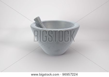 Pestle And Mortar In Porcelain