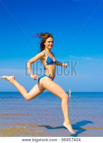 Under Sun On a Beach