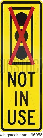 Traffic Lights Not In Use In Queensland, Australia