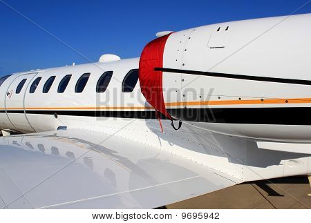 Business Jet Close Up