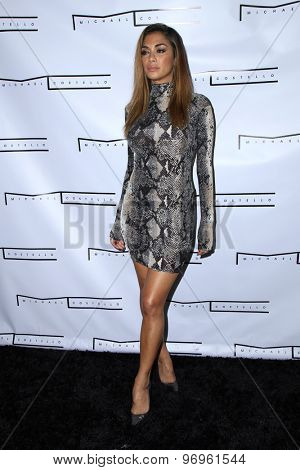 LOS ANGELES - JUL 23:  Nicole Scherzinger at the Michael Costello And Style PR Capsule Collection Launch Party  at the Private Location on July 23, 2015 in Los Angeles, CA