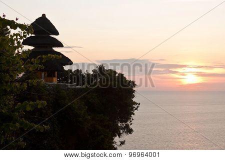 Uluwatu Temple On Sunset (bali, Indonesia)