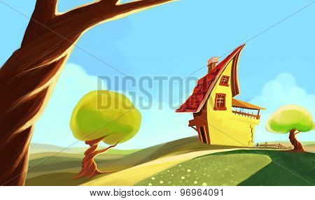 Fantastic house green land