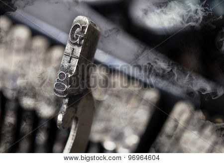 G Hammer - Old Manual Typewriter - Mystery Smoke