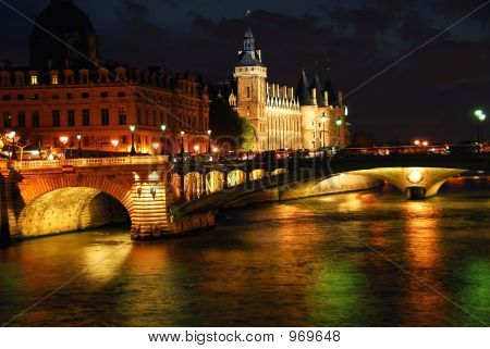Nighttime Paris