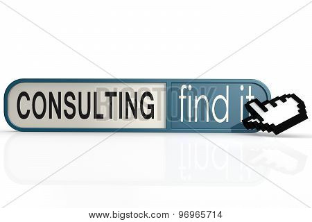 Consulting Word On The Blue Find It Banner