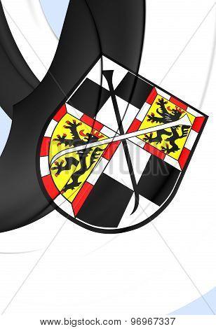 Flag Of Bayreuth City, Germany.