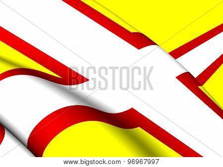 Flag Of Dorset, England.