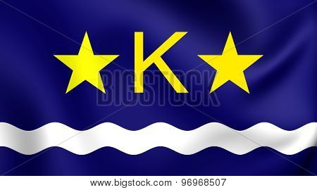 Flag Of Kinshasa, Democratic Republic Of The Congo.