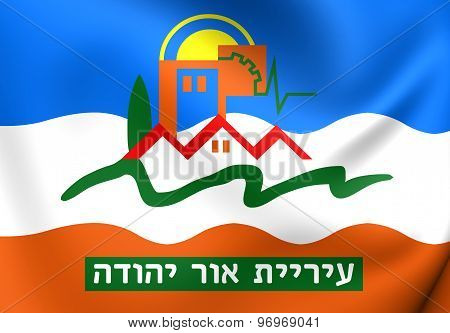 Flag Of Or Yehuda, Israel.