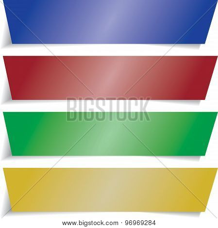 vector colorful  infographics banners