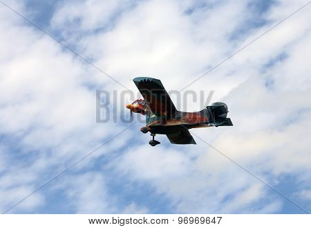Thiene, Vicenza - Italy. 26Th July, 2015: Amazing Hen Airplane In The Sky