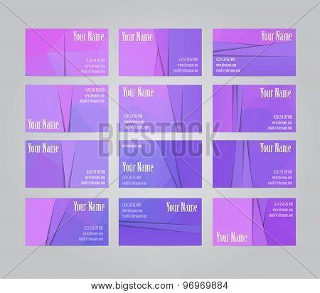 Set of  twelve visit cards