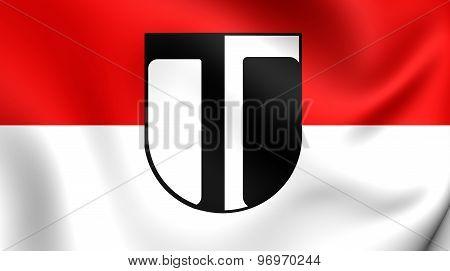 Flag Of Traun City, Austria.