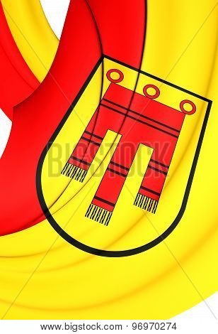Flag Of Tubingen City, Germany.