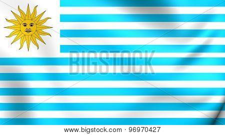 Flag Of Uruguay (1828-1830)