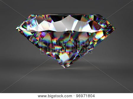 Diamond Isolated On White Background With Clipping Path