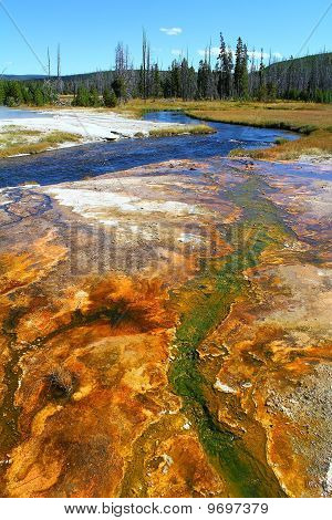 Brightly Colored Geyser Basin