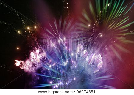 Bright Multicolor Fireworks