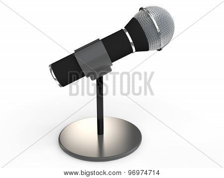 3d microphone on a stand