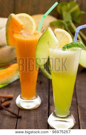 Refreshing melon juices