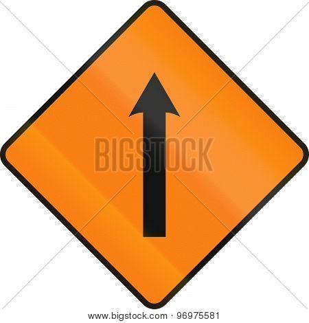 Single Lane Area Ahead In Ireland